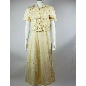 COLDWATER CREEK Yellow 2 Piece Dress Medium